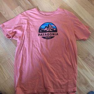 Orange Patagonia shirt